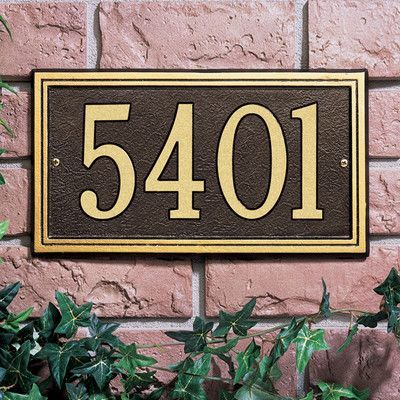 Legacy 2 Line Lawn Address Sign Address Plaque Whitehall Products Wall Plaques