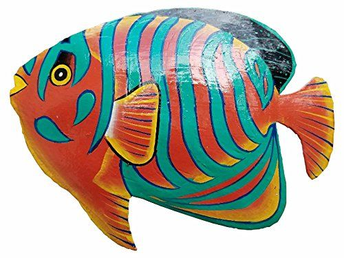 Hand Chiseled And Painted Tropical Metal Art Wall Decor F Https Www Amazon Com Dp B06xjjk8js Ref Cm Sw R Pi Fish Wall Art Nautical Wall Art Fish Painting