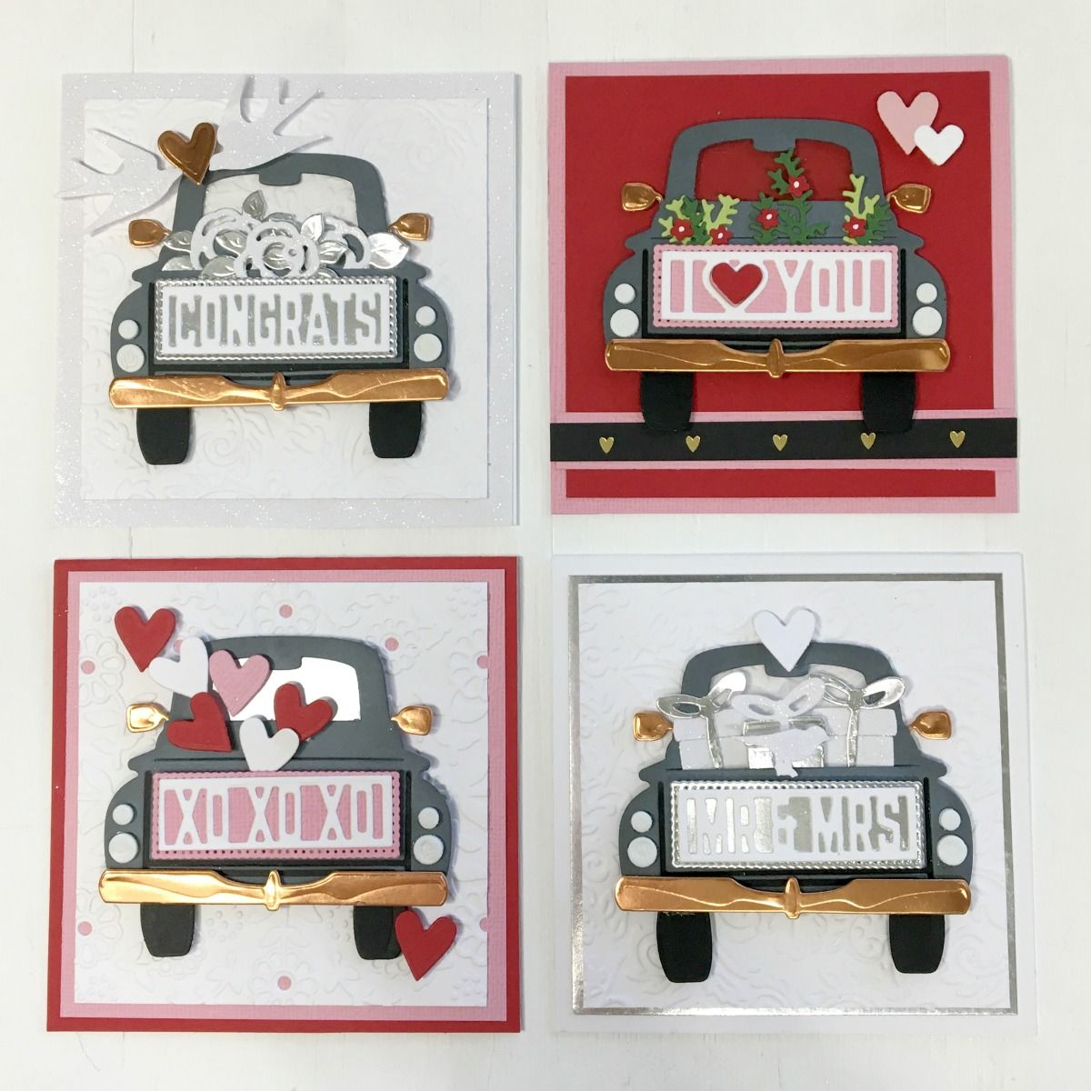Truck Frame Cutting Dies Car Scrapbook Paper Cards Album Embossing Stencils Mold
