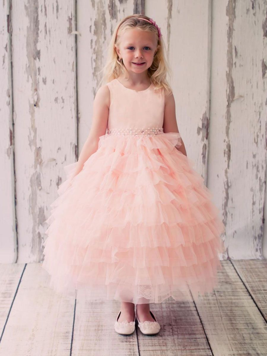 Aliexpress.com : Buy Pretty White Tulle Ruffles Flower Girl Dresses for Weddings 2016 New Arrival Vestido de Daminha Wedding Party Gown from Reliable dress spongebob suppliers on Mickey's Dresses | Alibaba Group