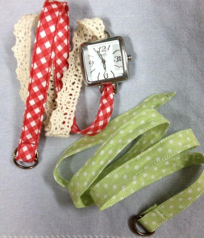 Diy Watch Straps Watch Diy Fabric Embellishment Diy Handmade