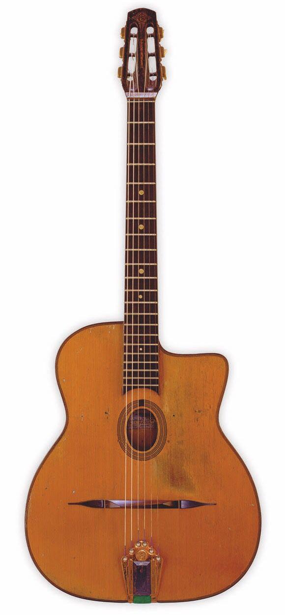 Django Reinhardt's Selmer Modele' Jazz Gypsy Jazz Guitar, Guitar Amp, Cool  Guitar,