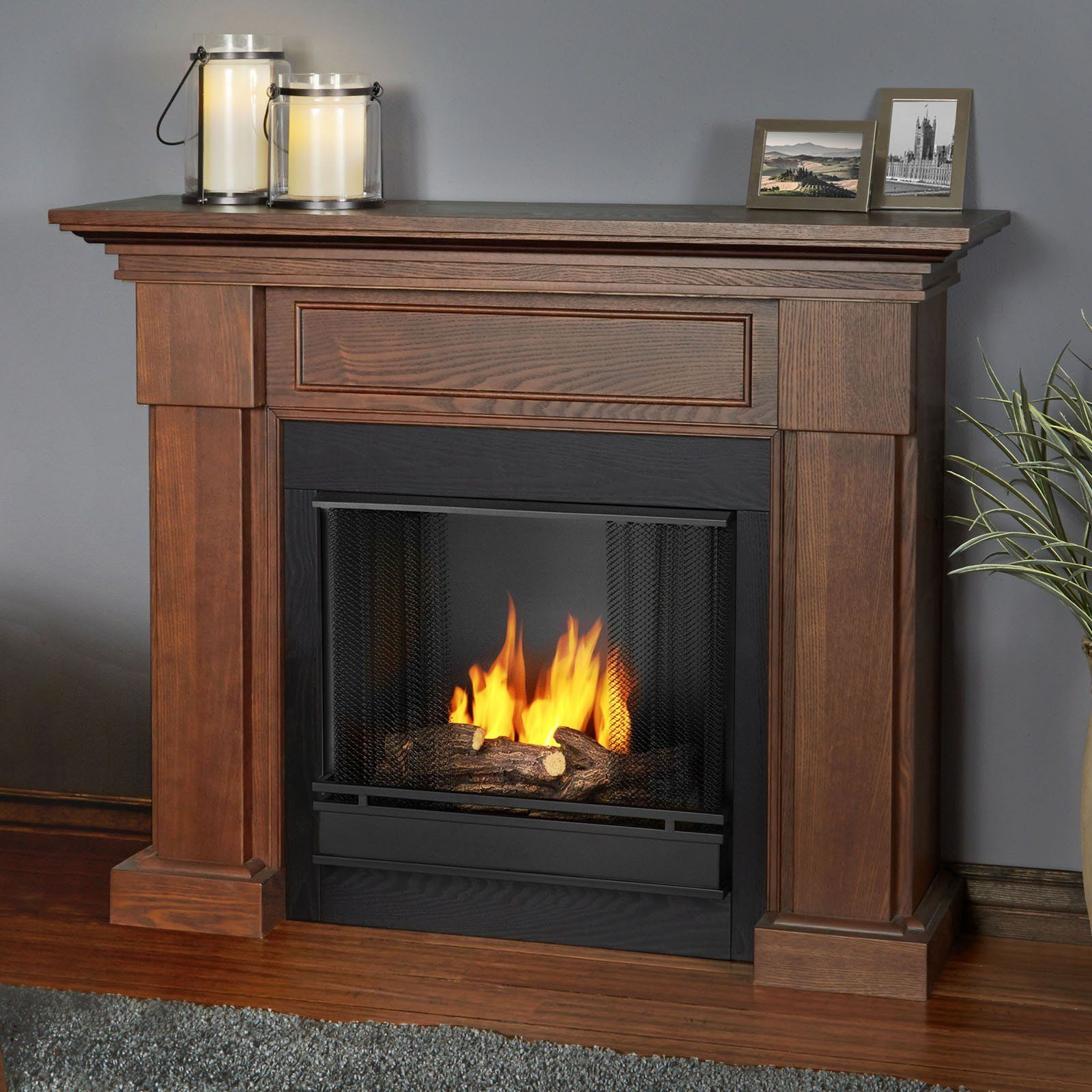 Real Flame Hillcrest Ventless Gel Fuel Fireplace from hayneedle