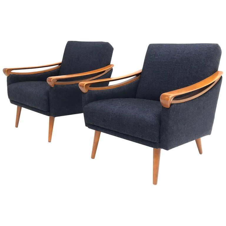 Excellent Pair Of New Upholstered Mid Century Modern Armchairs By Lifa Ocoug Best Dining Table And Chair Ideas Images Ocougorg