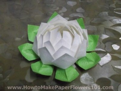 How To Make A Paper Lotus Flower This Is Pseudo Origami Ive Seen