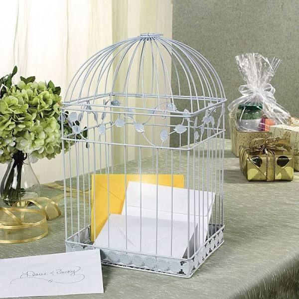 birdcage card box wedding