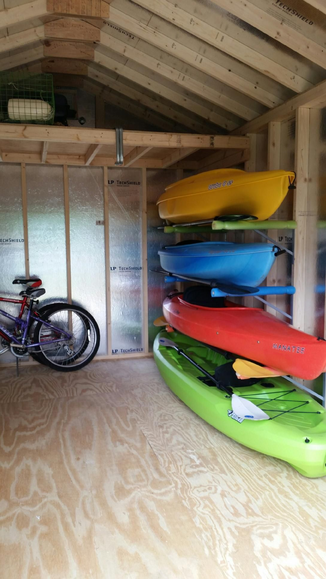 Kayak rack for garage to build dandk organizer for Rack rangement garage