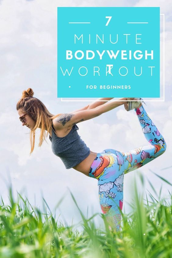 7 minute bodyweight workout for beginners! No experience or gym necessary. #fitness #health #workout...