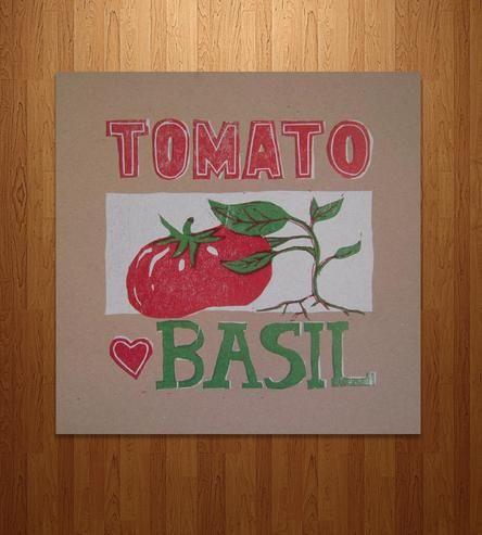 Companion Plant Letterpress Prints, Turnip & Peas, Tomato ... Turnip Companion Plants