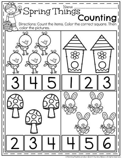 Spring Preschool Worksheets Preschool worksheets, School