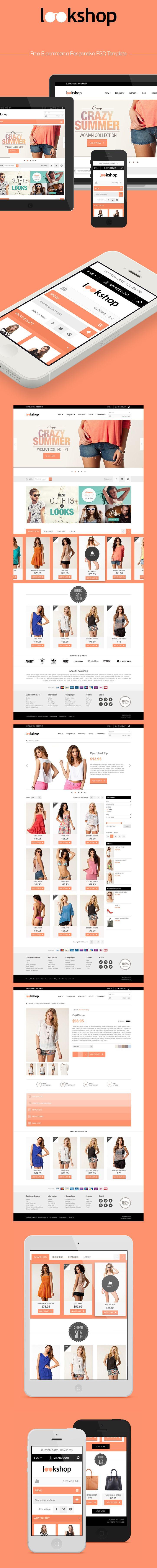 LookShop - Free Responsive PSD Template | Free PSD Templates ...