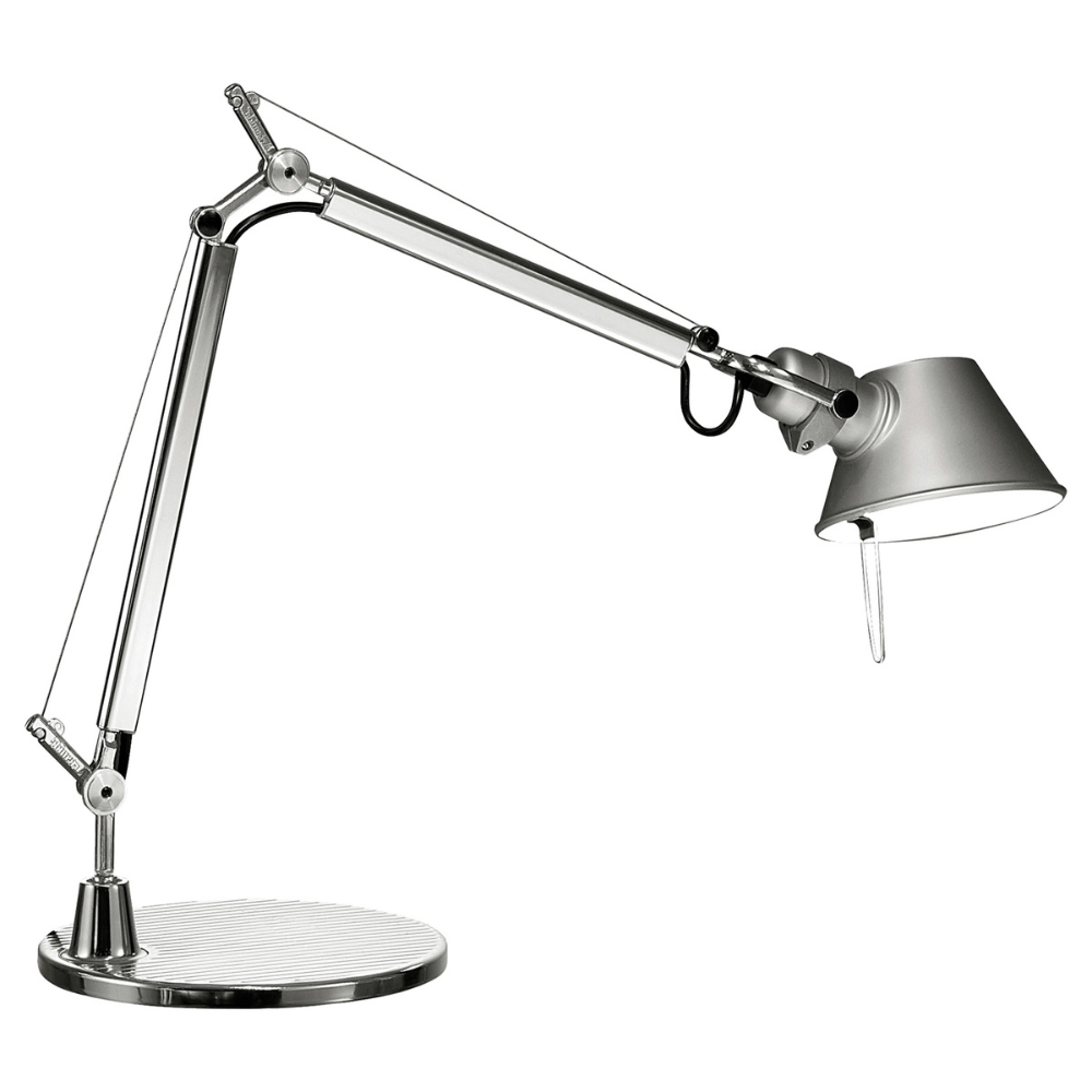 Artemide Tolomeo Micro Table Lamp Aluminium In 2020 Table Lamp Tolomeo Lamp Artemide