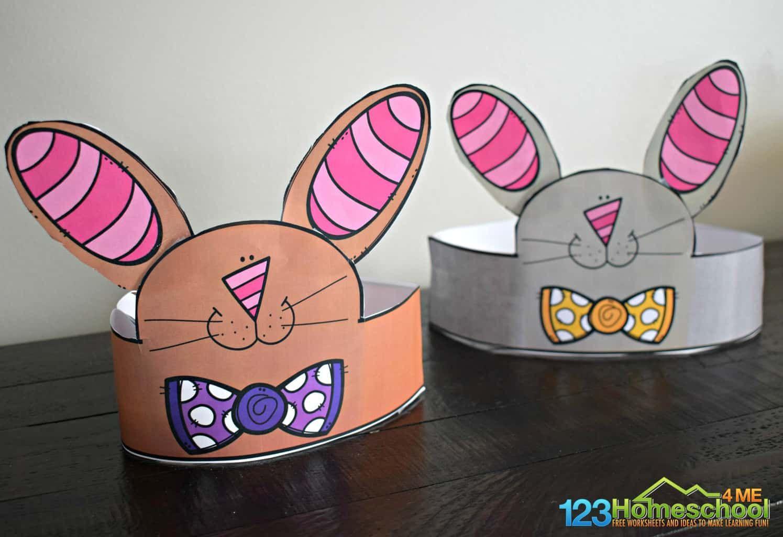 Printable Bunny Ear Hat