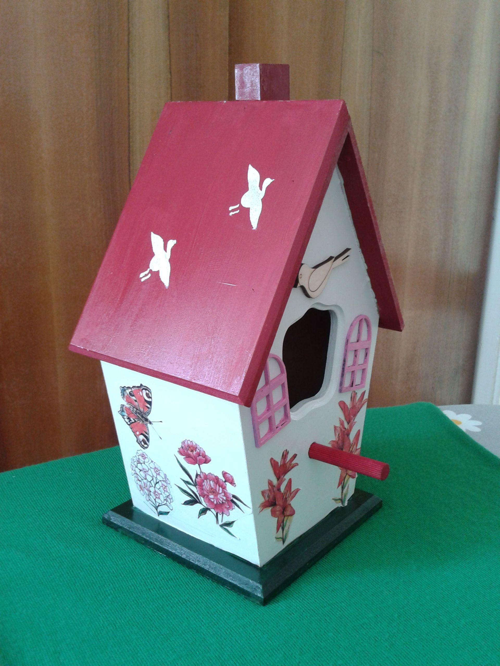 Ahşap Kuş Yuvası Bird Home Ahşap Boyama Pinterest Home And Birds