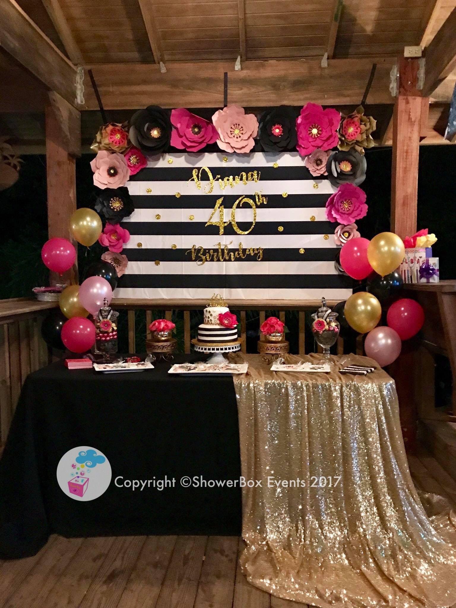 40th Birthday Showerbox Events 2017 Like Us On Fb Myshowe 40th