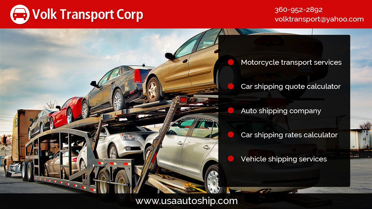 Auto Shipping Quote Entrancing Volk Transport Specializes In Shipping Vehicles Quickly And Safely