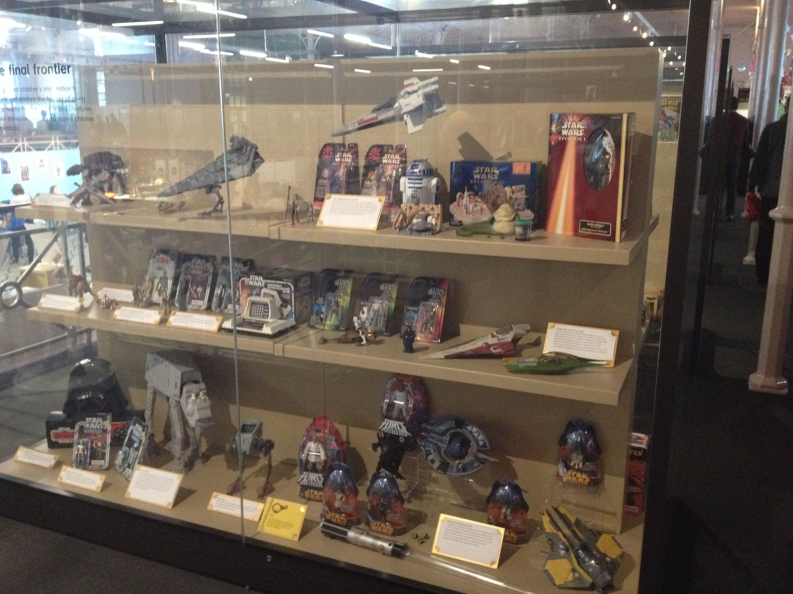 Star Wars display at the Museum Of Childhood in East London