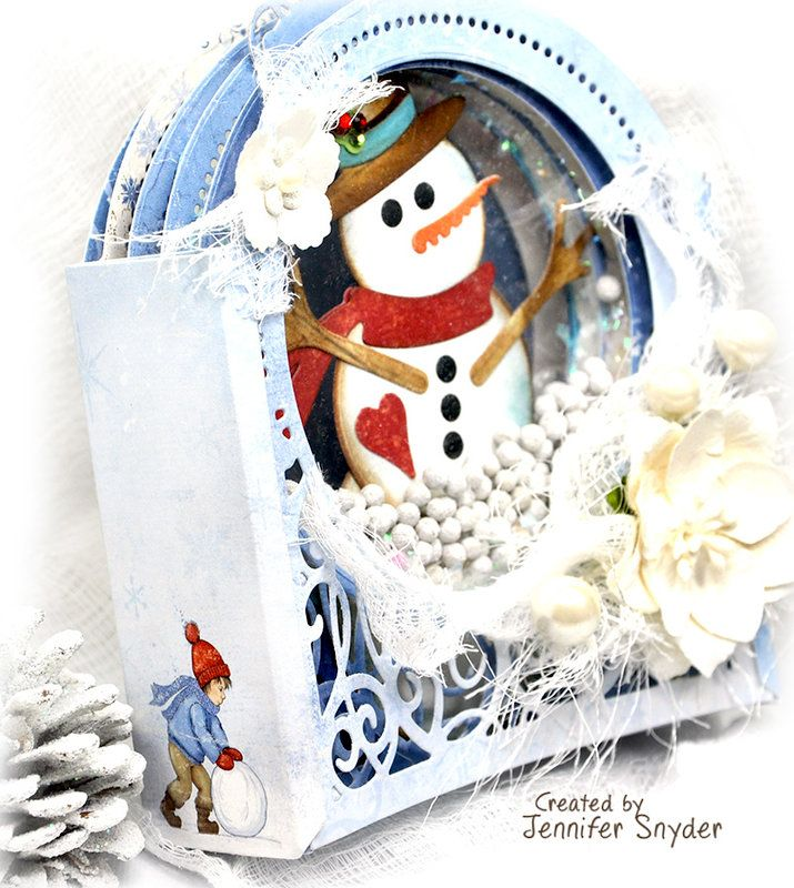 Scrap Escape DIY Snowman Snow Globe Shaker Card Tips and