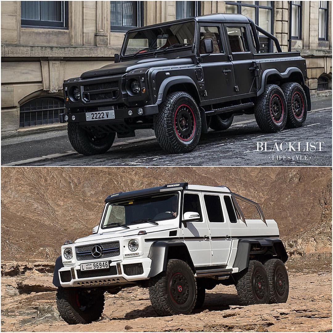 Blacklist On Instagram Flying Huntsman 6x6 Vs Mercedes Benz G63 6x6 Which Would You Choose Blacklist Flyinghuntsman Merc Super Cars Mercedes Benz Cars
