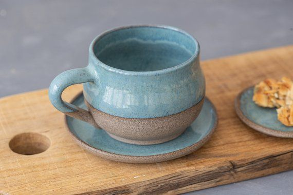 2 Colorful Ceramic Mugs Set, Pottery Rustic Coffee Mug , Stoneware Tea mug, Father Gift #mugsset