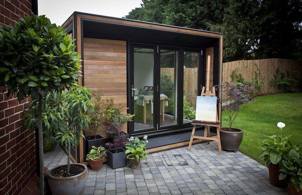 Garden Office Spotlight Aug 2015 - an example of Smart Garden Offices new range, the Ultra Solo - http://www.workfromhomewisdom.com/2015/08/17/garden-office-spotlight-august-2015/
