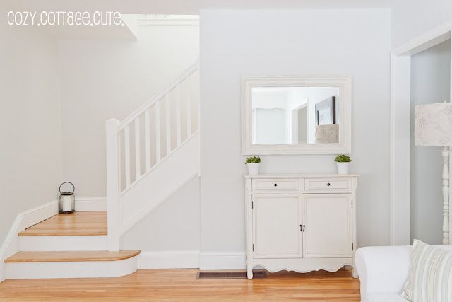 Benjamin Moore Gray Owl Entry Stairs Paint Color Ideas At Half Tint