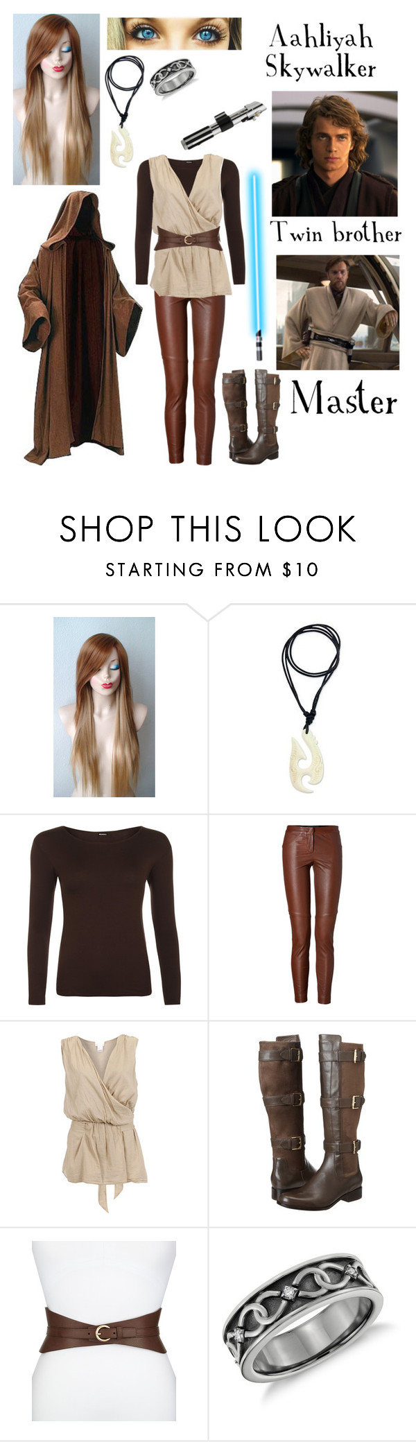 """""""Star Wars OC"""" by nebulaprime ❤ liked on Polyvore featuring beauty, NOVICA, WearAll, A.L.C., 2Love TonyCohen, Cole Haan, Neiman Marcus and Blue Nile"""