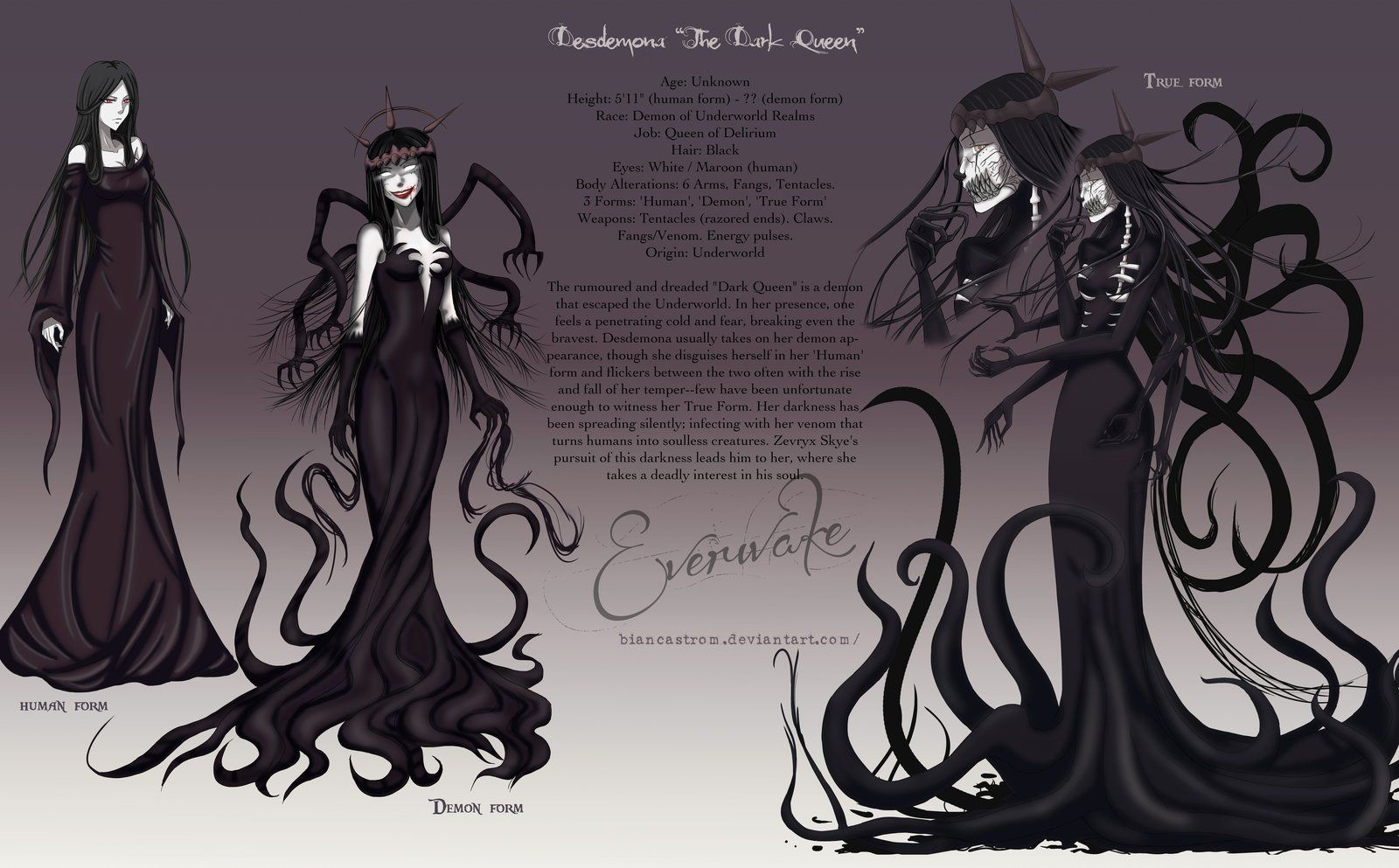 Desdemona 'The Dark Queen' Character Sheet by
