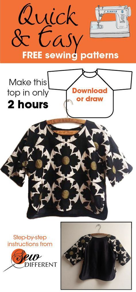 I love this sewing pattern. It\'s really quick and easy and best of ...