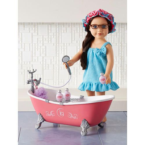 journey girls bath tub with accessories toys r us toys r us 18 dolls non ag journey. Black Bedroom Furniture Sets. Home Design Ideas