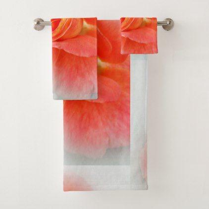 Pastel Pink Shades Bath Towel Set Cyo Pinterest