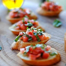 This tomato and basil bruschetta makes the perfect side for Italian entree recipes