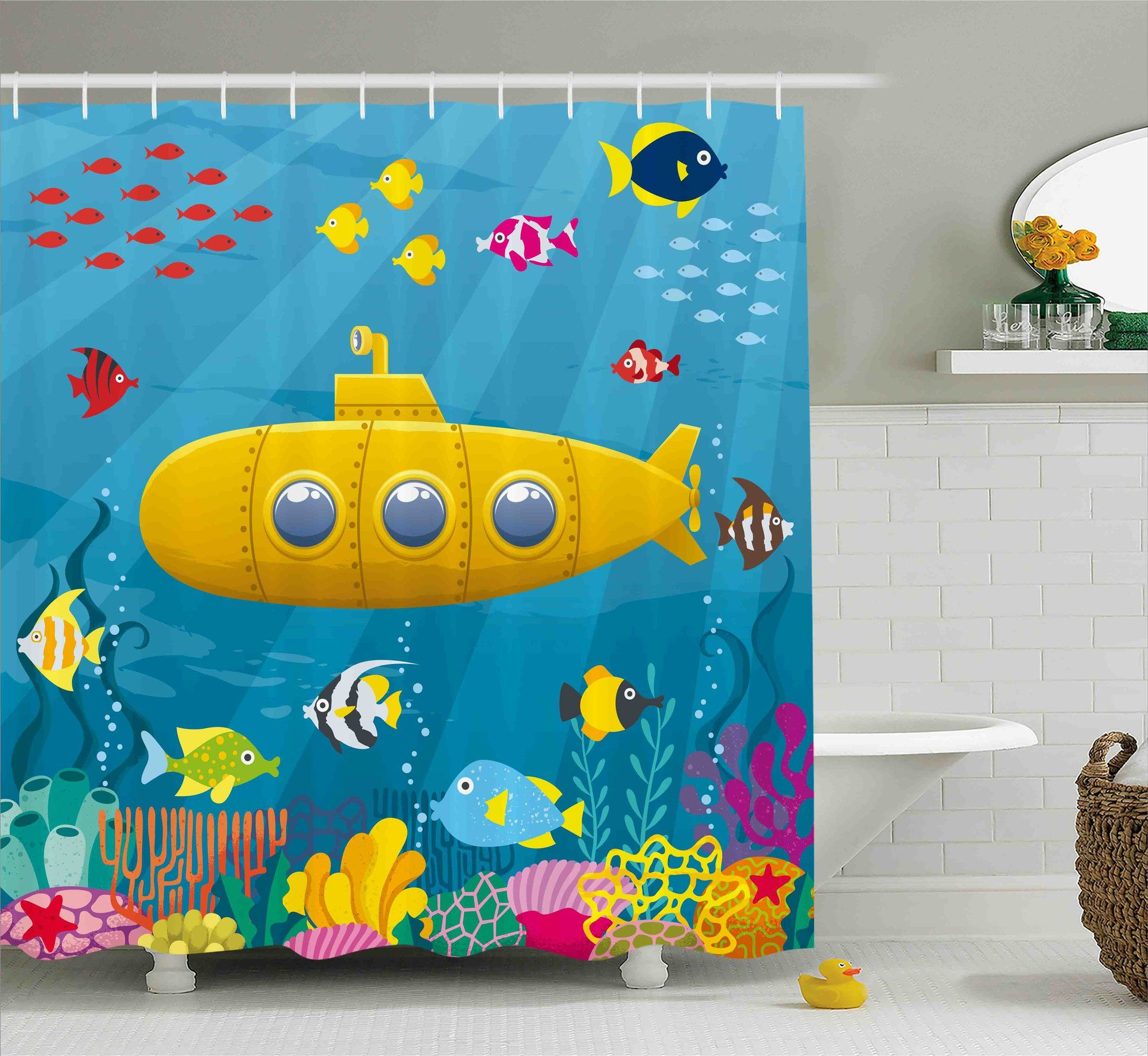 Felecia Yellow Submarine Coral Reef With Colorful Fish Ocean Life ...