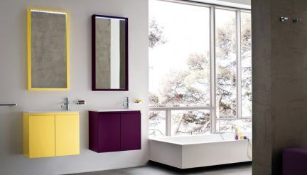 Birex Mobili ~ Mobile da bagno lapis 03 serie birex base lavabo giallo ocra
