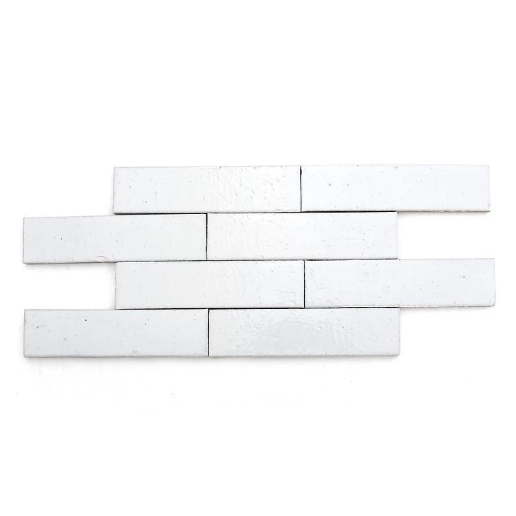 "Modern farmhouse brick gloss white rectangle 2 1/2""x9 1/2"