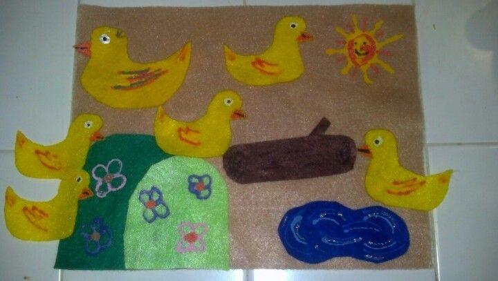 5 little duckies felt board