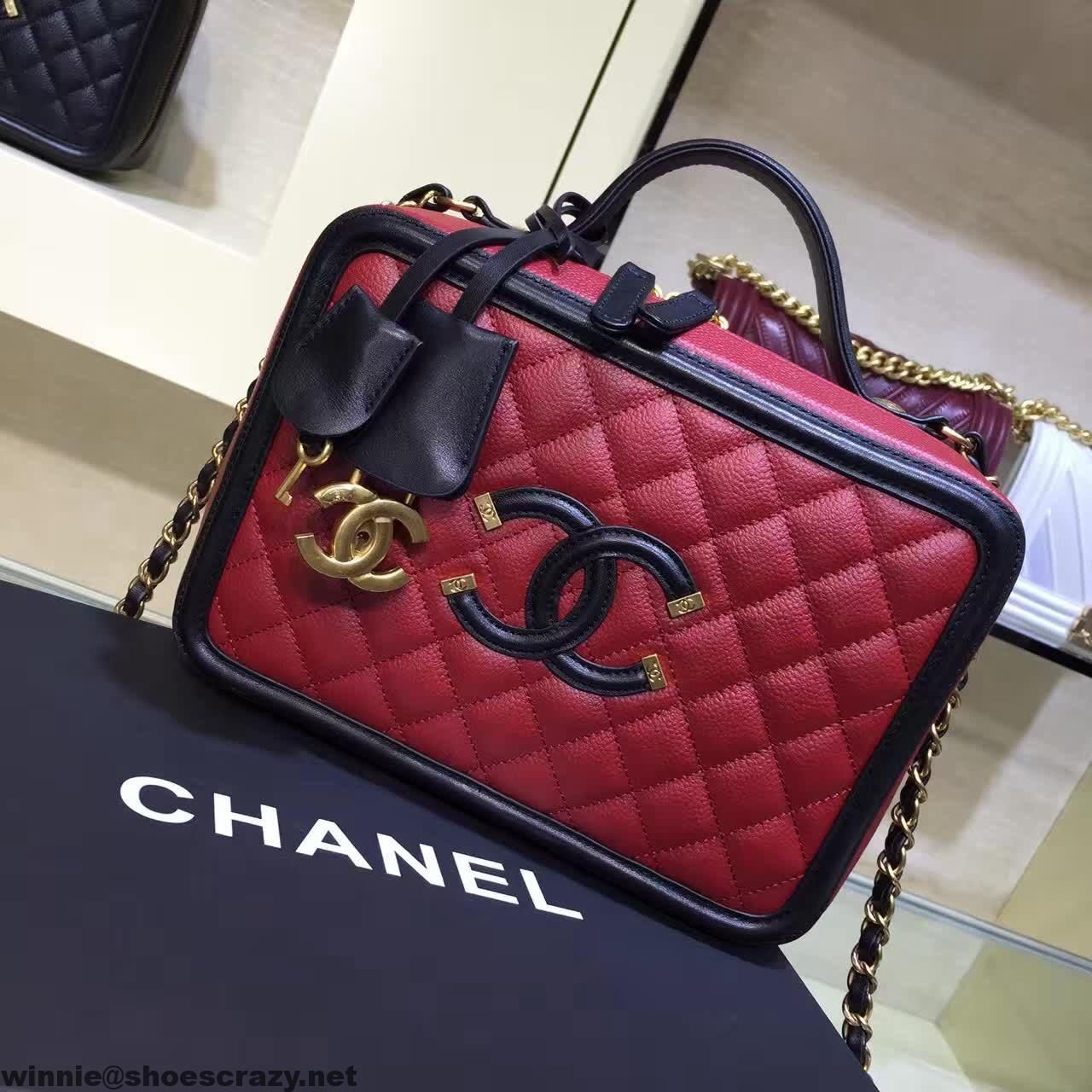 Chanel Cc Filigree Vanity Case Medium Bag Chanel In 2019