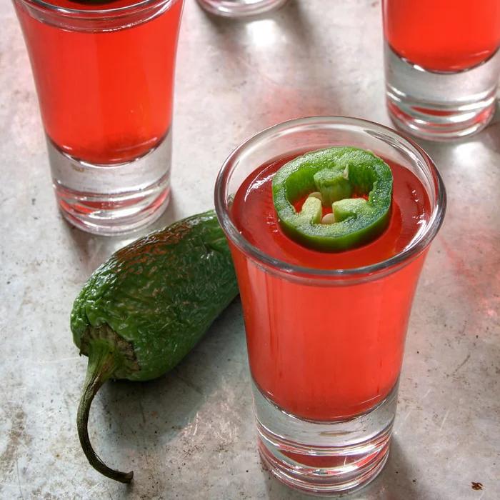 Strawberry Jalapeno Jello Shots #jelloshots