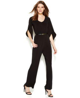72883345ec0 Calvin Klein Wide-Leg Kimono-Sleeve Jumpsuit