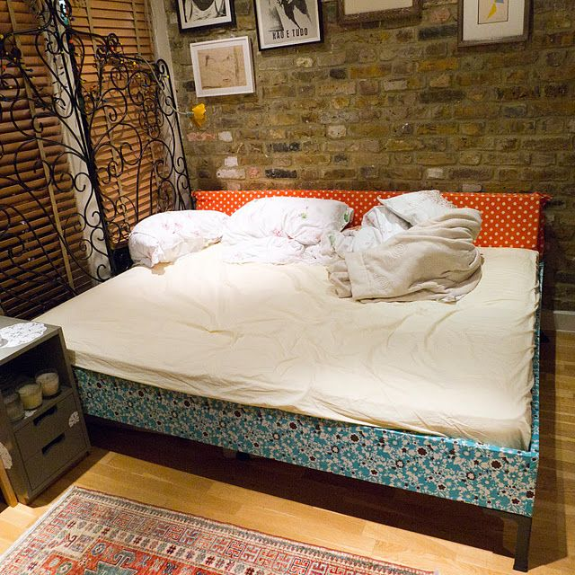 Covered ENGAN Bed, Apartment living, Ikea bed