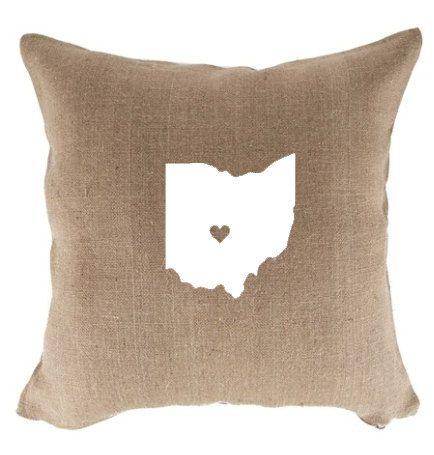 Burlap Ohio State Pillow Pillows Home