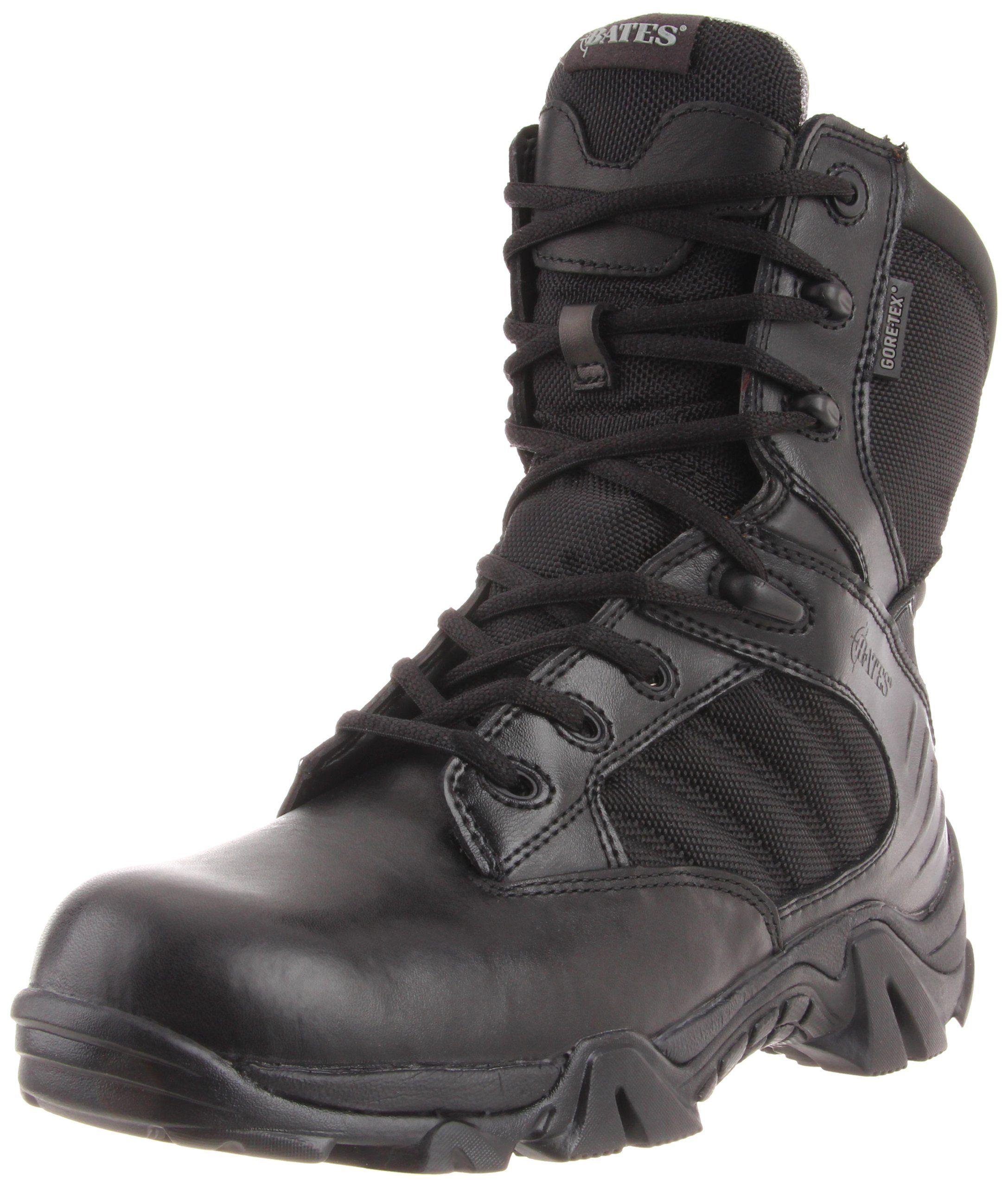b865e19b1ae Bates Men's GX-8 8 Inch Ultra-Lites GTX Waterproof Boot, Black, 12 ...