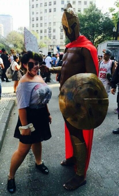SPARTA!!!!!! #zombiewalk #2014 #pinup #makeup #brazil #saopaulo #dead #sparta