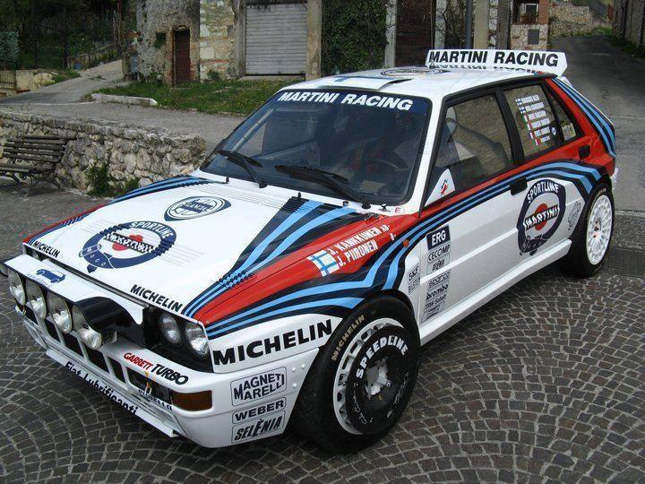 lancia delta integrale rally car - martini - speedline wheels   cars