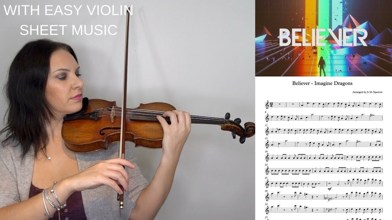 Believer By Imagine Dragons Easy Violin Tutorial With Sheet