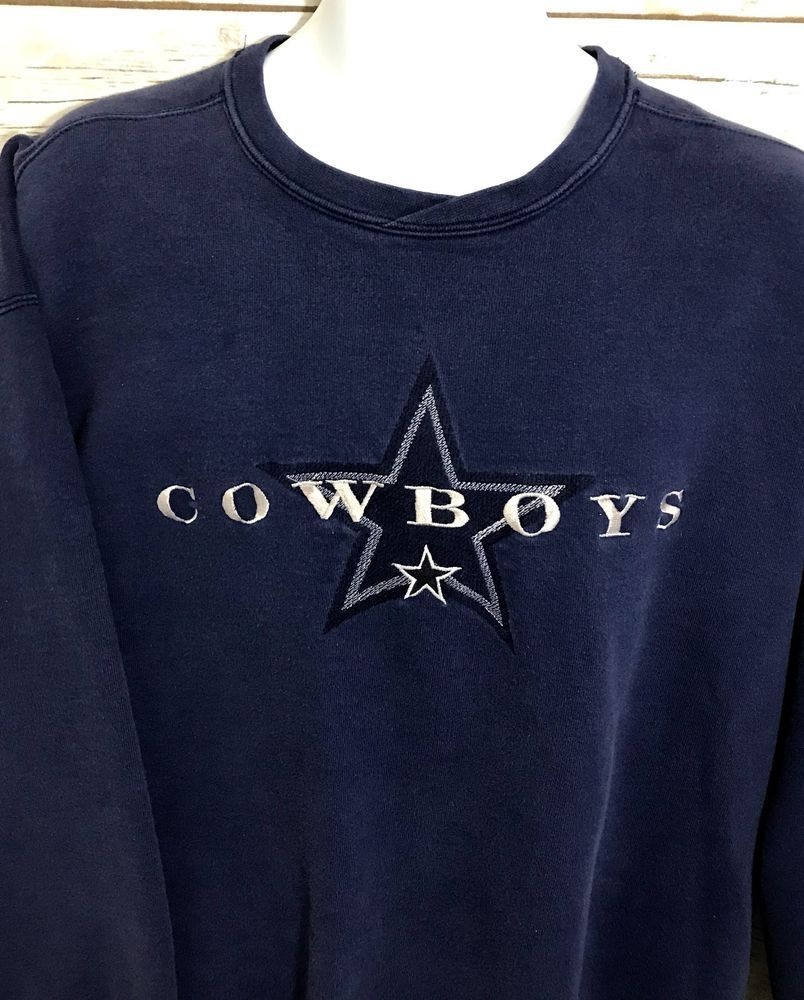 Vintage Sweatshirt XL Starter Dallas Cowboys Embroidered Star NFL Made in  USA