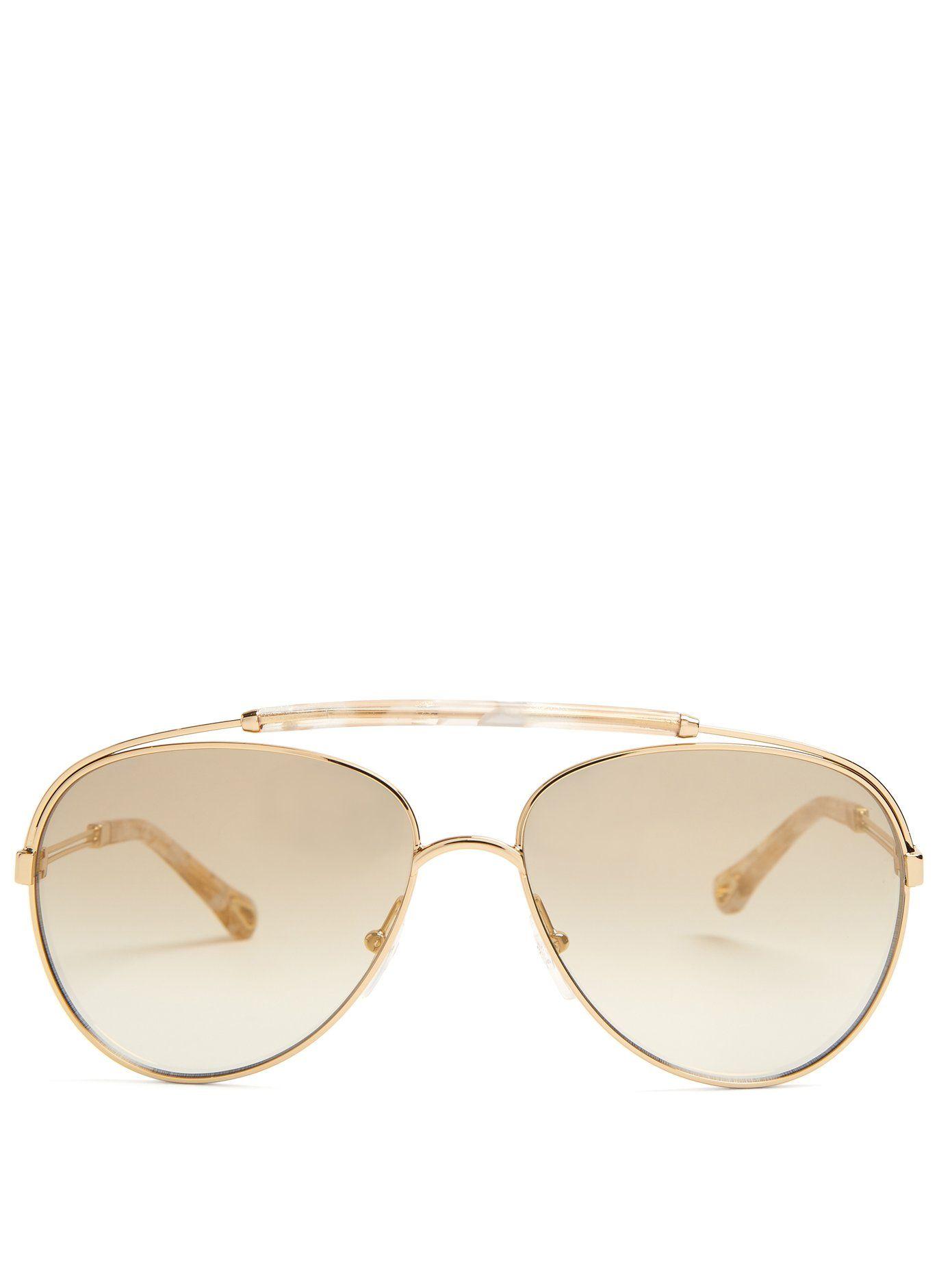 Reece aviator-frame sunglasses Chloé XI8R5