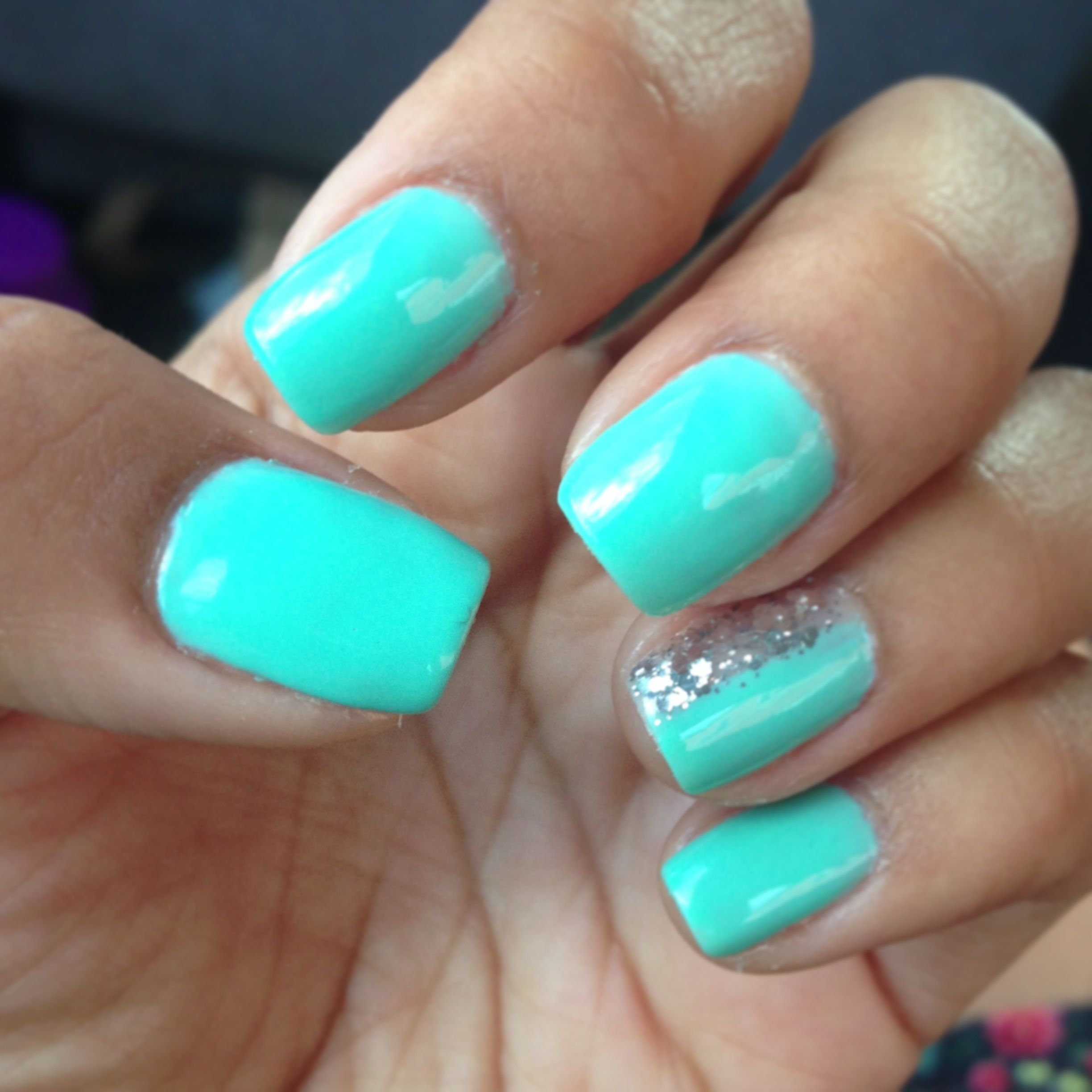 Aqua Nail Art: A Manicure To Try Out Possibly Using Sally's TripleShine