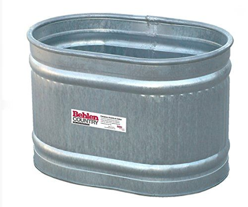 Behlen Country Re223 Galvanized Steel Round End Stock Tan With