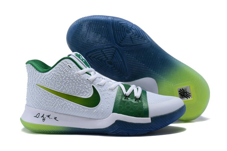 kyrie 3 white and green